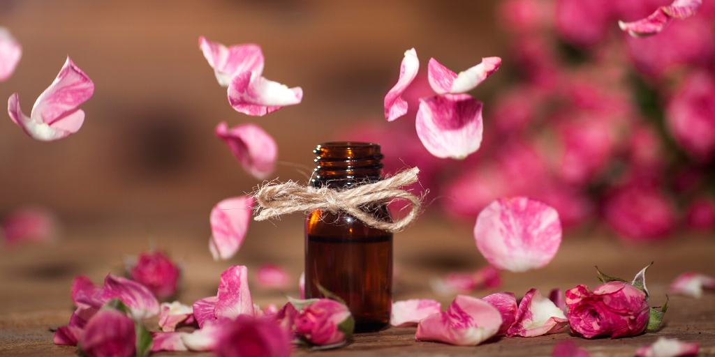 image of rose essential oil