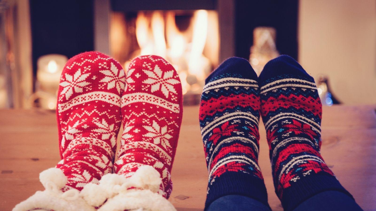 Warm socks by the fire