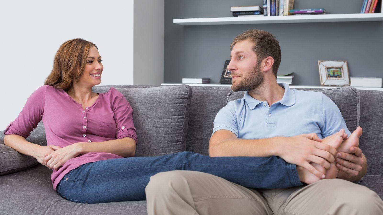 Partner foot massage